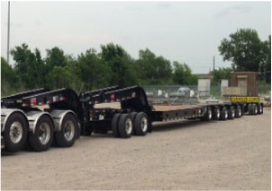 70 Ton Flat Deck Lowboy (Big Foot)