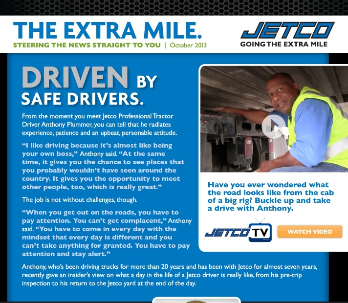 DRIVEN by safe drivers.
